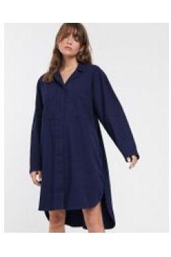 Waven - Kerr - Vestito camicia di jeans oversize-Navy(120303813)