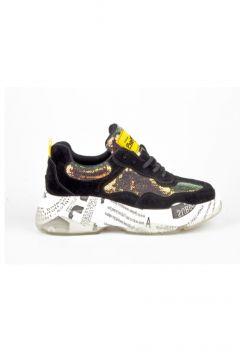 Guja Siyah Payetli Comfort Taban Kadın Sneaker Ayakkabı(110955392)