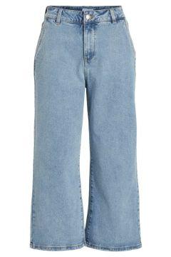 OBJECT COLLECTORS ITEM Weit Geschnittene Mid Waist Cropped Jeans Damen Blau(111122850)