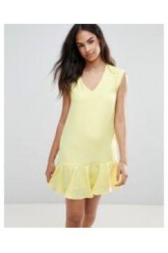 FRNCH - Kleid mit Schößchensaum - Gelb(90529336)