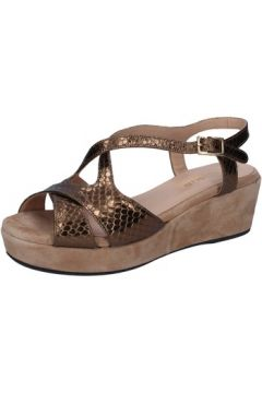 Sandales Allison sandales bronze cuir python daim BZ307(88470480)