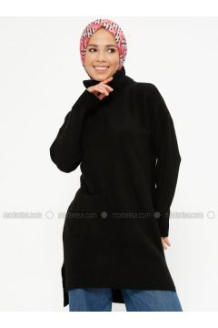 Black - Polo neck - Acrylic -- Jumper - PINK APPLE(110336100)