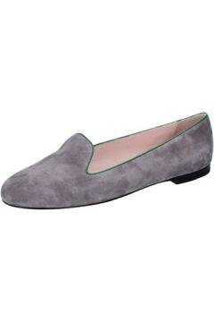 Chaussures Bally mocassins gris daim vert BY04(88522545)