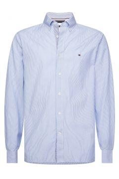 Camisa recta a rayas de popelina(109281210)