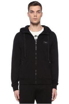 Dolce&Gabbana Erkek Siyah Kapüşonlu Logolu Sweatshirt 50 IT(109109734)