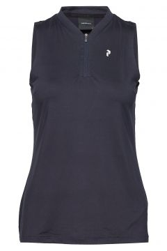 Turf Zip Sl Women T-Shirts & Tops Polos Blau PEAK PERFORMANCE(116887902)