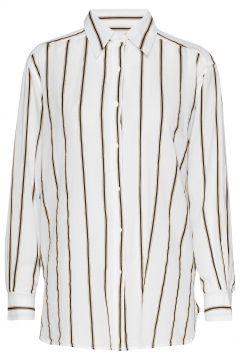 Tandie Stripe Shirt Langärmliges Hemd Weiß MOS MOSH(114152351)