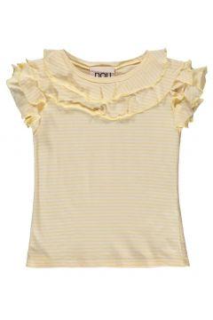 Gestreiftes T-Shirt mit Rüschen(113867551)