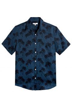 Camisa recta de lino estampada de palmeras(116705330)
