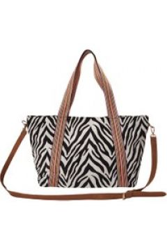 XL-Shopper mit Zebra-Dessin aus Canvas Codello off-white(114170834)