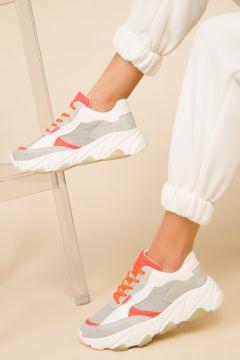 SOHO Buz Beyaz Turuncu Kadın Sneaker(105205762)