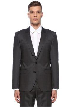 Dolce&Gabbana Erkek Gri Kelebek Yaka Yün Takım Elbise 54 IT(121108422)
