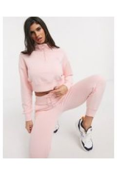 New Balance - Felpa corta rosa con zip corta(120360826)