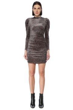 Allsaints Kadın Daphne Lee Dik Yaka Leopar Desenli Mini Elbise Kahverengi 0 UK(126795836)