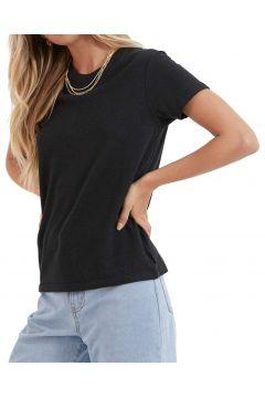 Afends Hemp Basics Damen Kurzarm-T-Shirt - Black(114064987)