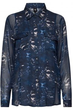 Caia Shirt Langärmliges Hemd Blau NÜ DENMARK(109112728)