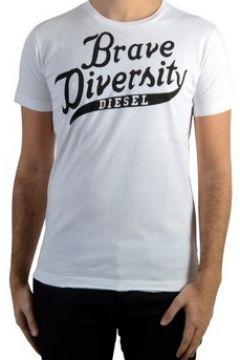 T-shirt Diesel Tee Shirt Brave 100 Blanc(115461369)
