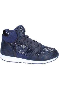 Chaussures enfant Solo Soprani fille sneakers bleu cuir synthétique paillettes BS36(115443325)