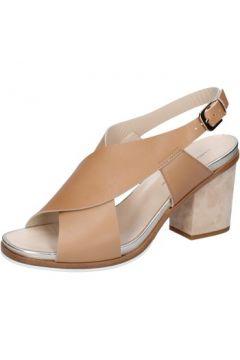 Sandales Guido Sgariglia sandales marron cuir platino BZ317(115395402)