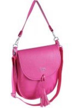 Umhängetasche Mila aus softem Rindsleder mit Quaste Collezione Alessandro pink(111503625)