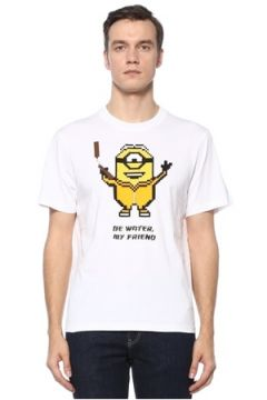 8-Bit by Mhrs Erkek Beyaz 3D Figür Baskılı Basic T-shirt S EU(121912339)