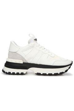Valentino Garavani Kadın Beyaz Kalın Tabanlı Logolu Deri Sneaker 36 EU(123516371)