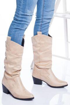 Ayakkabı Frekansı Kadın Ten Vister Bot Süet(119134882)