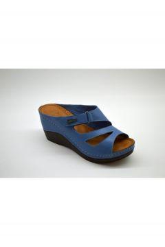 PALOMA Kadın Mavi Hakiki Deri Terlik(124151102)