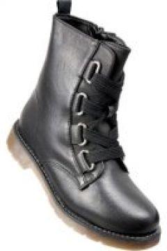 Pantofelek24.pl | Czarne botki workery z wiązaniami(112082599)