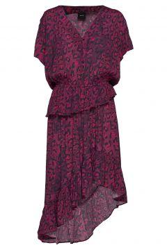Luna Kleid Knielang Rot RAVN(114164211)