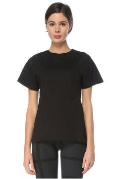 Toteme Kadın Siyah Bisiklet Yaka T-shirt S EU(126268301)