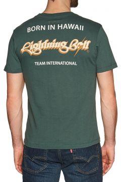 Lightning Bolt Born In Hawaii Kurzarm-T-Shirt - Darkest Spruce(115733471)