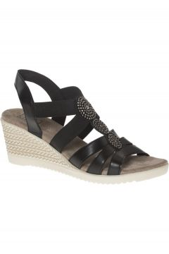 Easy Street Kadın Siyah Dolgu Topuk Sandalet(119985223)