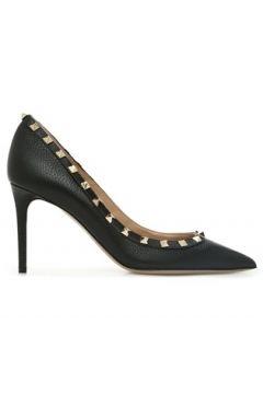 Valentino Garavani Kadın Rockstud Siyah Deri Stiletto 36 EU(121159661)
