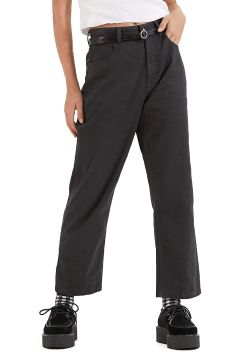 Afends Shelby Hemp High Waist Wide Leg Damen Jeans - Raven(114064990)