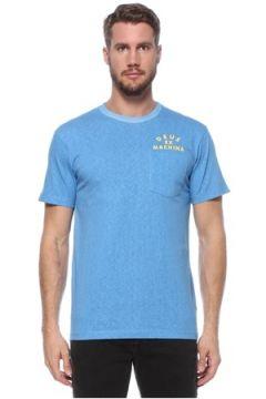 Deus Ex Machina Erkek Mavi Bisiklet Yaka Cep Detaylı T-shirt S EU(124856829)