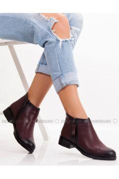 Maroon - Boot - Boots - MODA AYAKKABI(110315400)