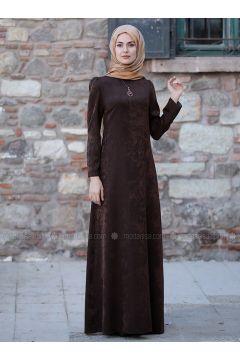 Brown - Unlined - Dresses - Sure(110342623)