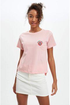DeFacto Kadın Baskılı Kısa Kollu T-Shirt(119063884)