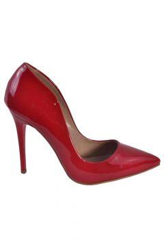 Caprito Kırmızı Rugan Kadın Topuklu Ayakkabı bzm0000001397(113616495)