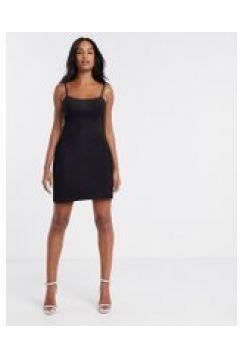 Fashionkilla - Vestito corto per uscire con spalline sottili nero(120330945)