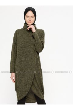Khaki - Polo neck -- Tunic - Marwella(110332551)