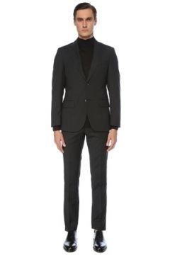 Network Erkek Slim Fit Siyah Desenli Takım Elbise 46 EU(123608551)