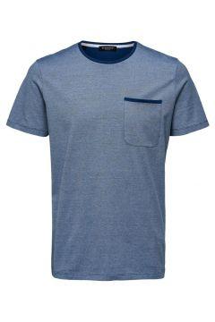 SELECTED Regular Fit Rundringad - T-shirt Man Blå(114089844)