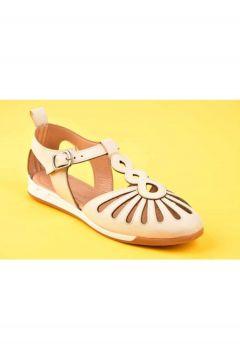 SWELLSOFT Kadın Bej Ön Delik Detaylı Günlük Ayakkabı(119323547)