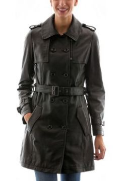 Veste Intuitions Paris Trench Noir (1109)(115397971)