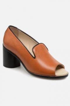 SALE -30 Deux Souliers - Loafer Peep Heel #1 - SALE Pumps für Damen / braun(111575113)