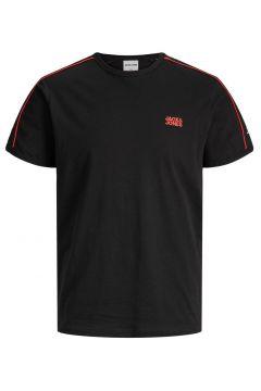 JACK & JONES Kontrastfärgad Piping - T-shirt Man Svart(112240257)