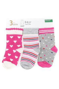 Benetton 3\'lü Renkli Soket Çorap(123482544)