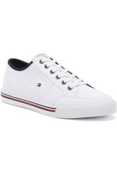 Tommy HilfigerCore Corporate Textile Mens White Trainersmen\'s Shoes (Trainers) in White(112261427)